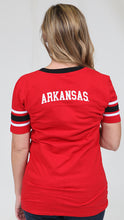 Load image into Gallery viewer, Glimmer Razorback football tee