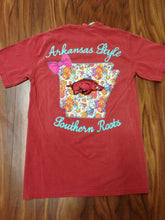 Load image into Gallery viewer, Arkansas Bright State Bow Tee
