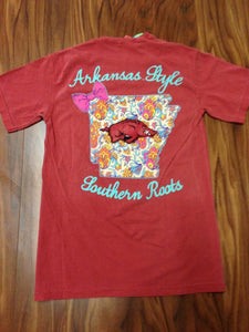 Arkansas Bright State Bow Tee