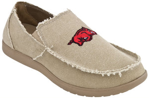 Arkansas Men's Canvas Slip On Khaki Shoe
