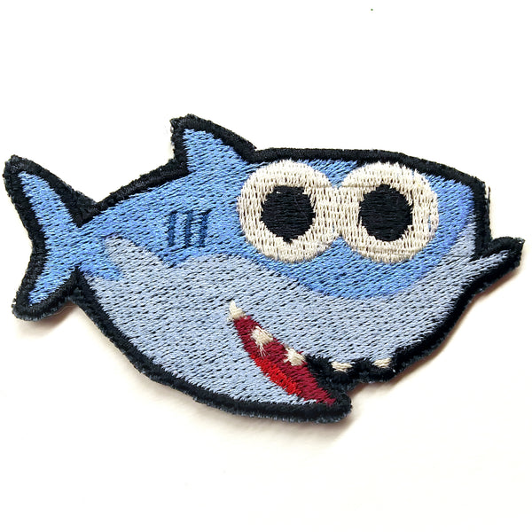 Baby Shark Handmade Sew On Embroidered Patch