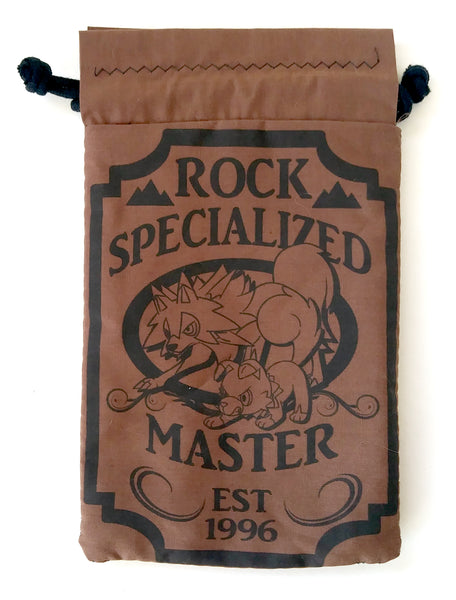 Handmade Drawstring bag - Pokemon Specialized Master - Rock Rockruff & Lycanrock