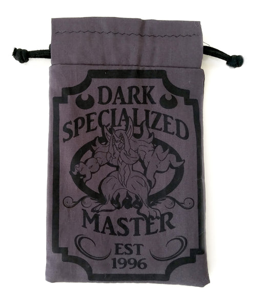 Handmade Drawstring bag - Pokemon Specialized Master - Dark Type Bag