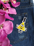 Bill Cipher Handmade Sew On Embroidered Patch
