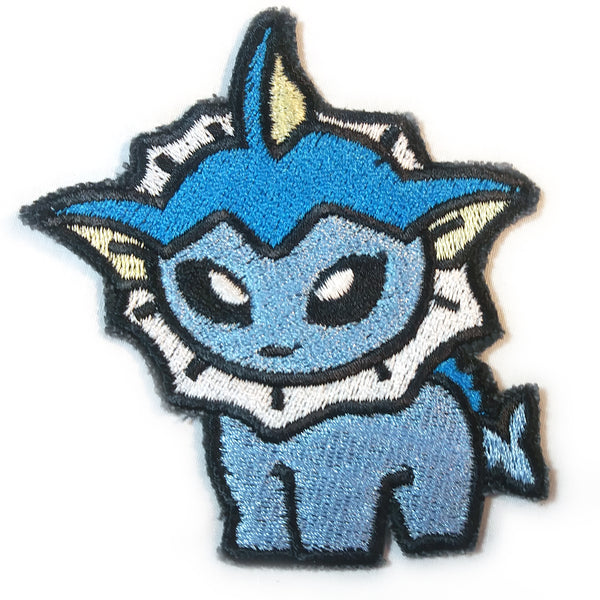 Vaporeon Handmade Sew On Embroidered Patch