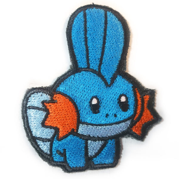 Mudkip Handmade Sew On Embroidered Patch