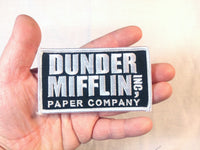 Dunder Mifflin Handmade Sew On Embroidered Patch