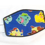 Pokemon Embroidered Mask Pick your Fabric!