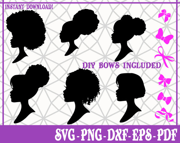Barbie Heads Hairstyles SVG, Pdf, Eps, Dxf PNG files for Cricut, Silhouette Instant download