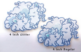 Ninetails and Vulpix Handmade Sew On Embroidered Patch