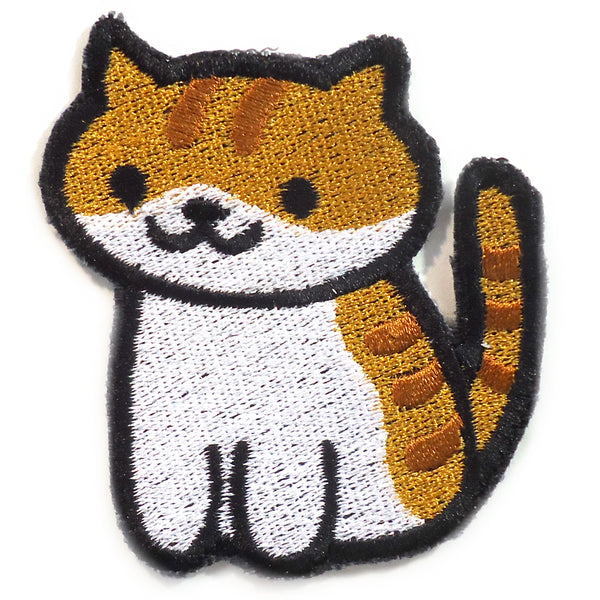 Pumpkin the cat Handmade Sew On Embroidered Patch