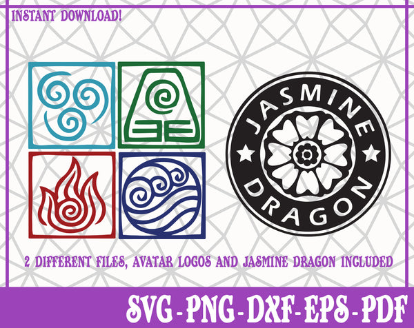 Avatar Bundle SVG, Pdf, Eps, Dxf PNG files for Cricut, Silhouette Instant download