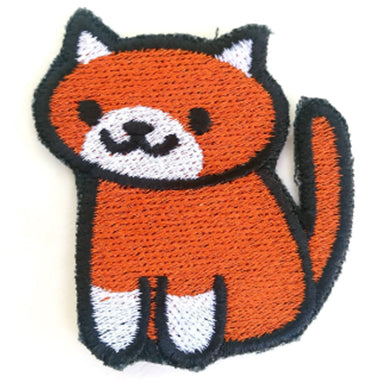 Ginger the cat Handmade Sew On Embroidered Patch