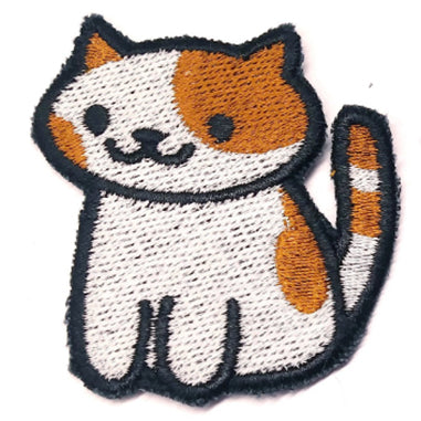 Patches the Cat Handmade Sew On Embroidered Patch