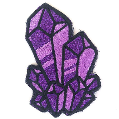 Glitter Gemstone Handmade Sew On Embroidered Patch
