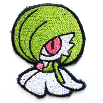 Gardevoir Handmade Sew On Embroidered Patch