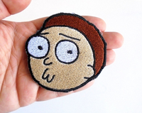 Morty Handmade Sew On Embroidered Patch