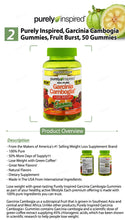Load image into Gallery viewer, 100% Pure Garcinia Cambogia+ Gummies | Fruit Burst | 50 gummies