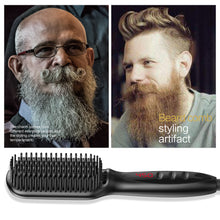 Load image into Gallery viewer, Hot Air Brush, Beard Hair Straightener, Brush and Comb