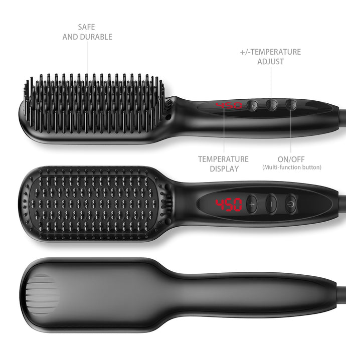 Hot Air Brush, Beard Hair Straightener, Brush and Comb