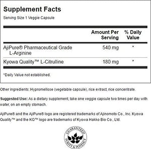 AjiPure L-Arginine with L-Citrulline | 60 Caps