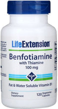 Load image into Gallery viewer, Benfotiamine with Thiamine | 100mg | 120 vcaps