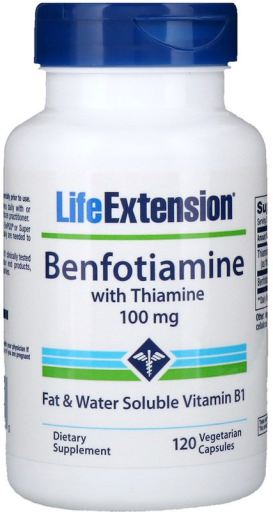 Benfotiamine with Thiamine | 100mg | 120 vcaps