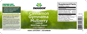 Cinnamon Gymnema Mulberry Complex | 120 caps