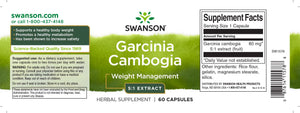 Garcinia Cambogia | 5:1 Extract 80mg | 60 caps