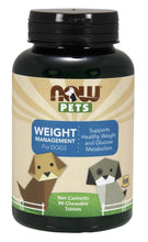 Load image into Gallery viewer, Pets, Weight Management for Dogs | 90 chewable tablets