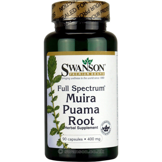 Full-Spectrum Muira Puama Root | 400mg | 90 caps