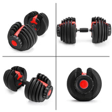 Load image into Gallery viewer, Adjustable Dumbbell 5-52.5lbs (2.5kg-24kg) x 1 | UK STOCK