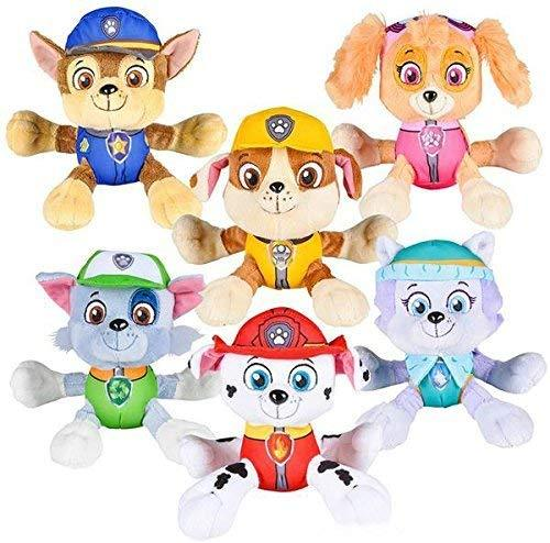 "PAW Patrol 6"" Plush Toy SET of 6 Characters Marshall Skye Everest Rocky Rubble Chase"