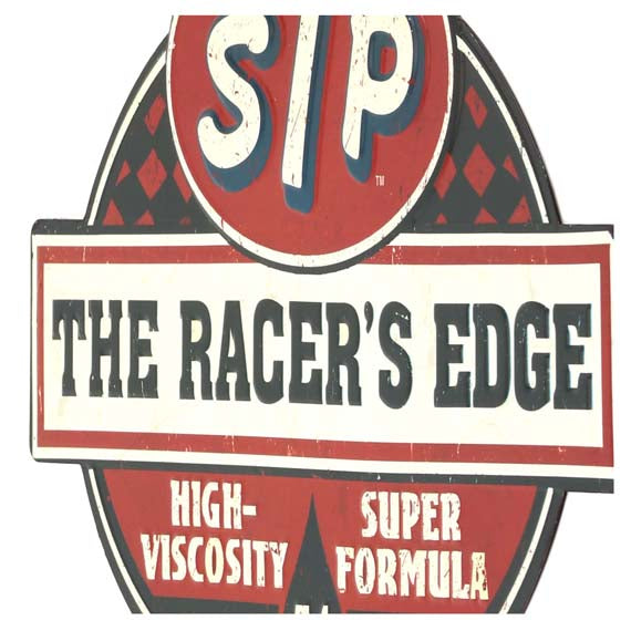 Open Road Brands STP The Racer's Edge Vintage Tin Metal Wall Art