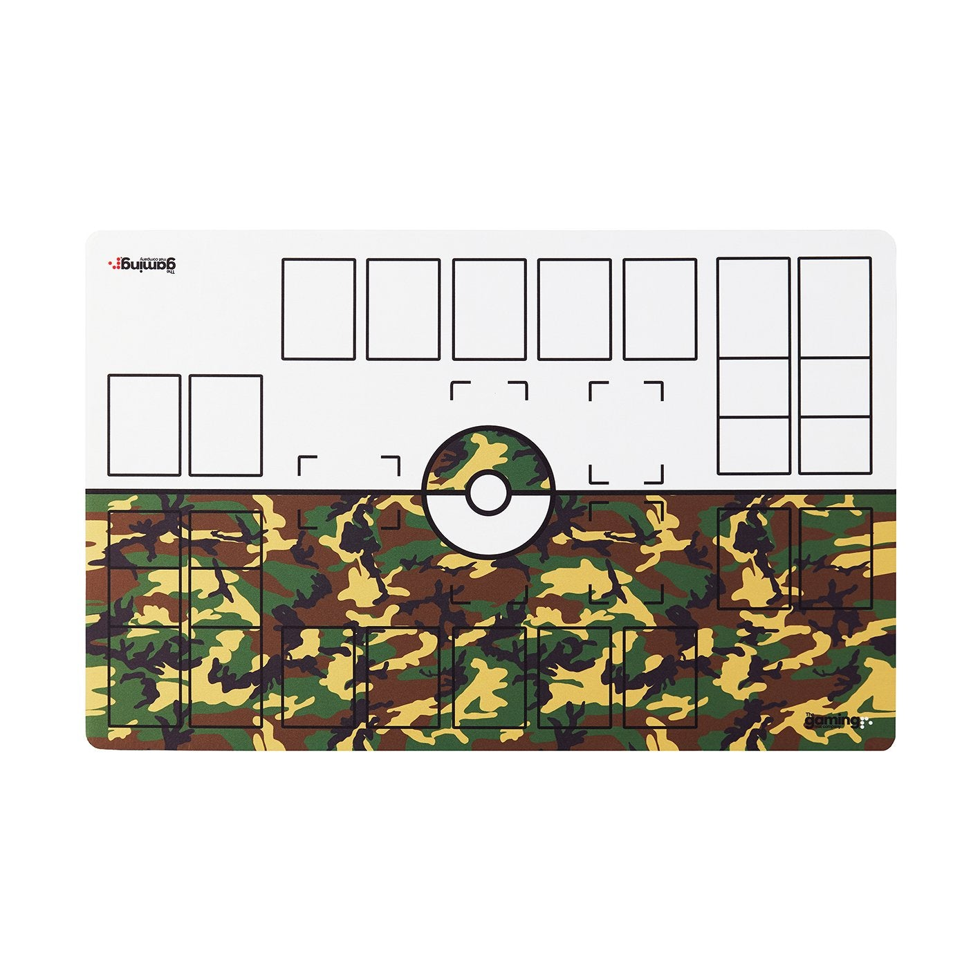 The Gaming Mat Company™ 2 Player Pokemon Gaming Mat for Pokemon Trading Card Games TCG Play Mat Stadium Board Camouflage