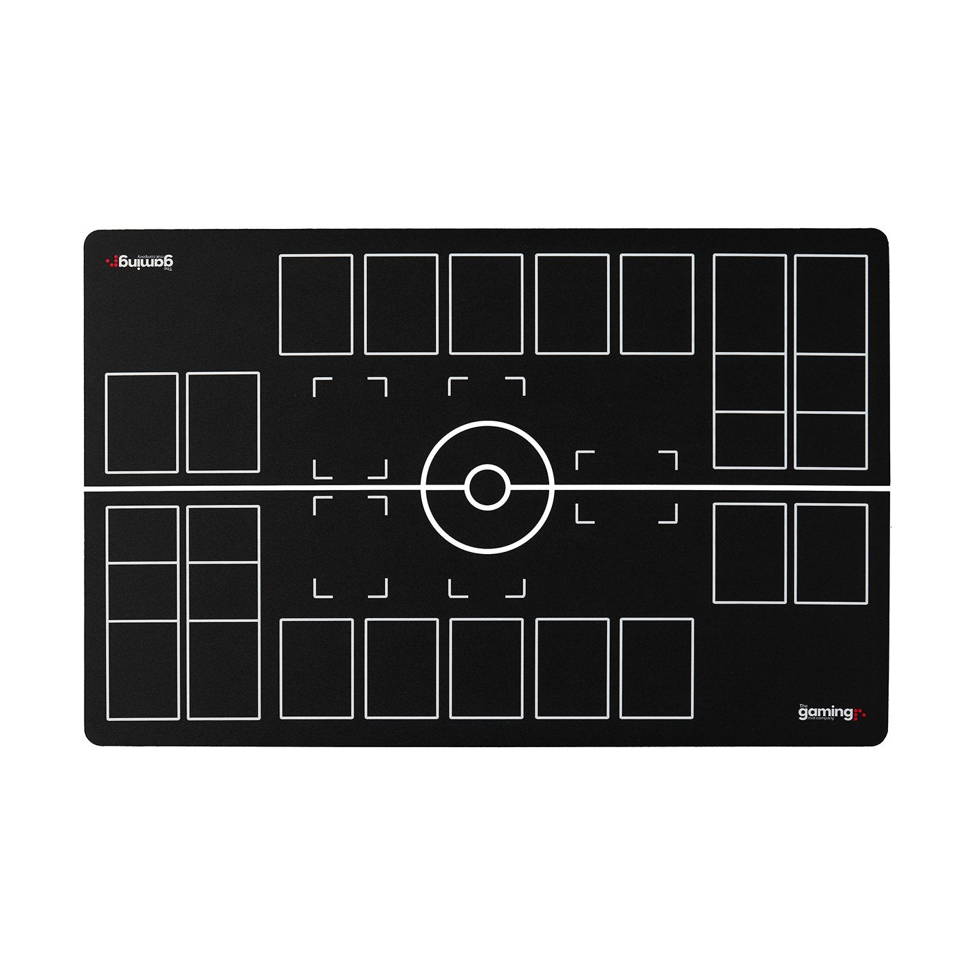 The Gaming Mat Company™ 2 Player Pokemon Gaming Mat for Pokemon Trading Card Games TCG Play Mat Stadium Board Black & White