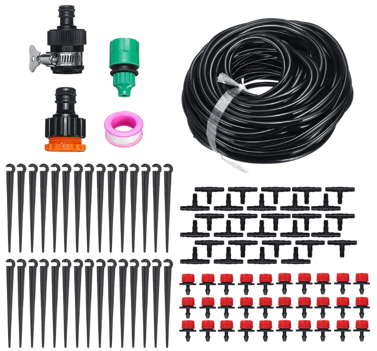 Irrigation System Self Plant 30pcs Dripper Watering Garden Hose