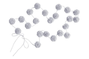 SPINKIE MINI POM POM GARLAND - LIGHT GREY