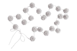 SPINKIE MINI POM POM GARLAND - OYSTER