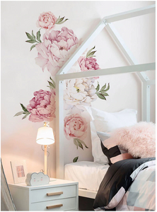 PEONY FLOWER WALL DECALS - PINK