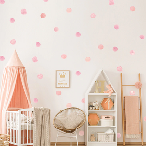 DOT WATER COLOUR WALL STICKERS - PINK