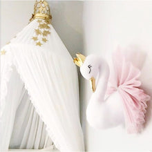 Load image into Gallery viewer, SWAN WALL MOUNT - GOLD & PINK