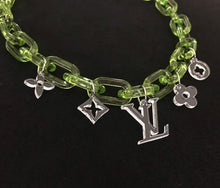 "Load image into Gallery viewer, Translucent Green ""charm"" chain necklace"