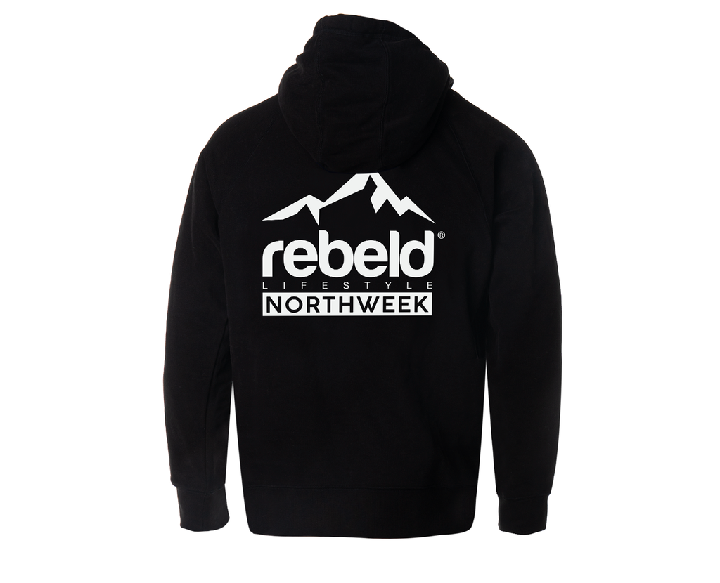 Northweek X Rebeld Limited Black Hoodie Regular Duke
