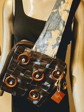 Load image into Gallery viewer, Artisan upcycled square denim sling bag