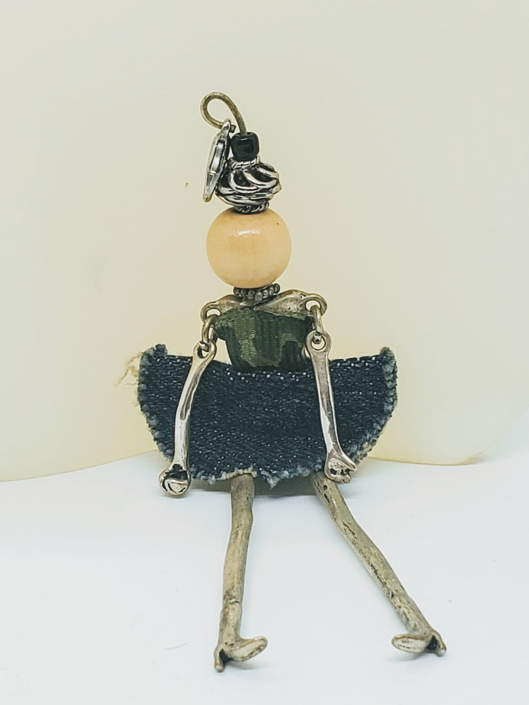 Artisan doll dangle pendants