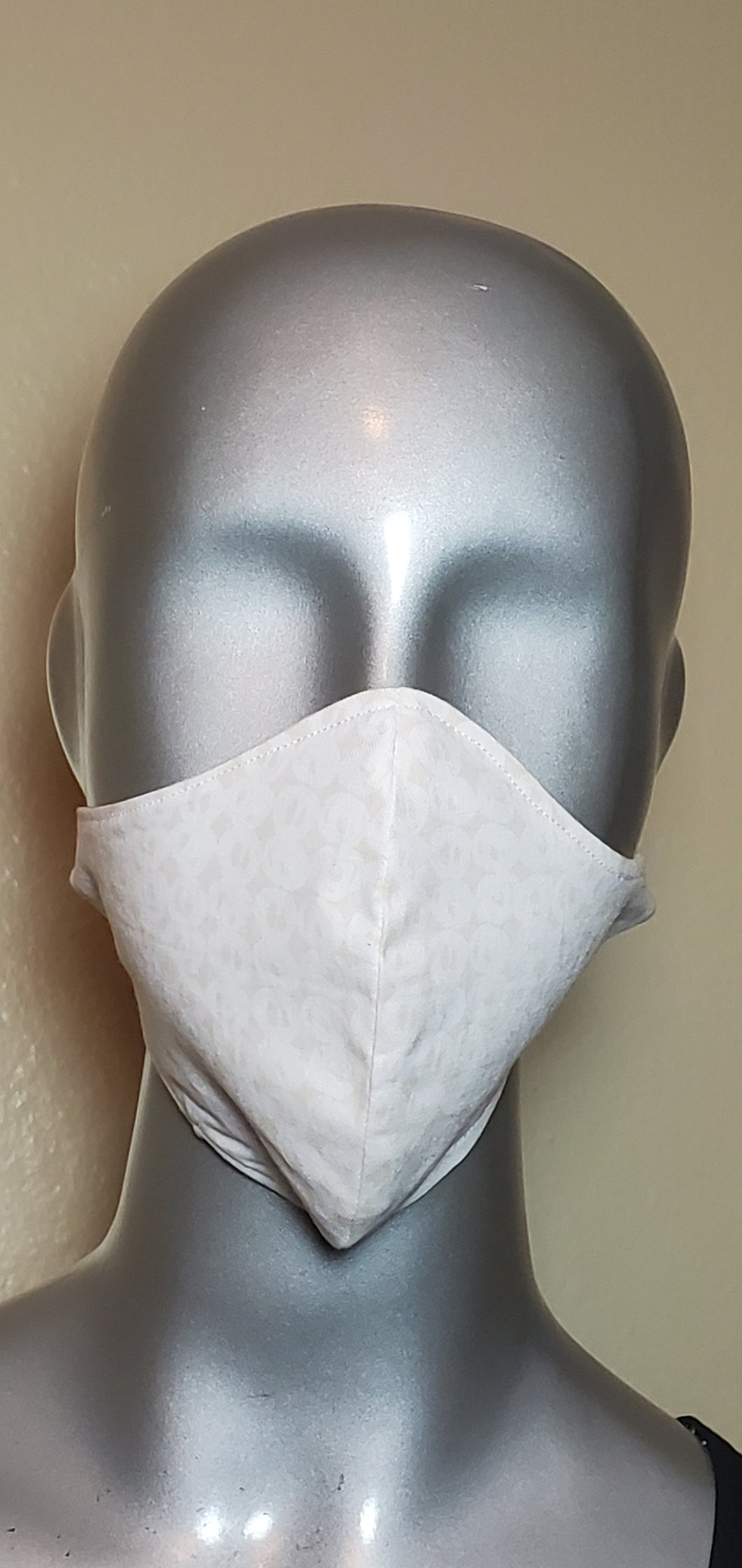 Tan White Circle Fabric Mask