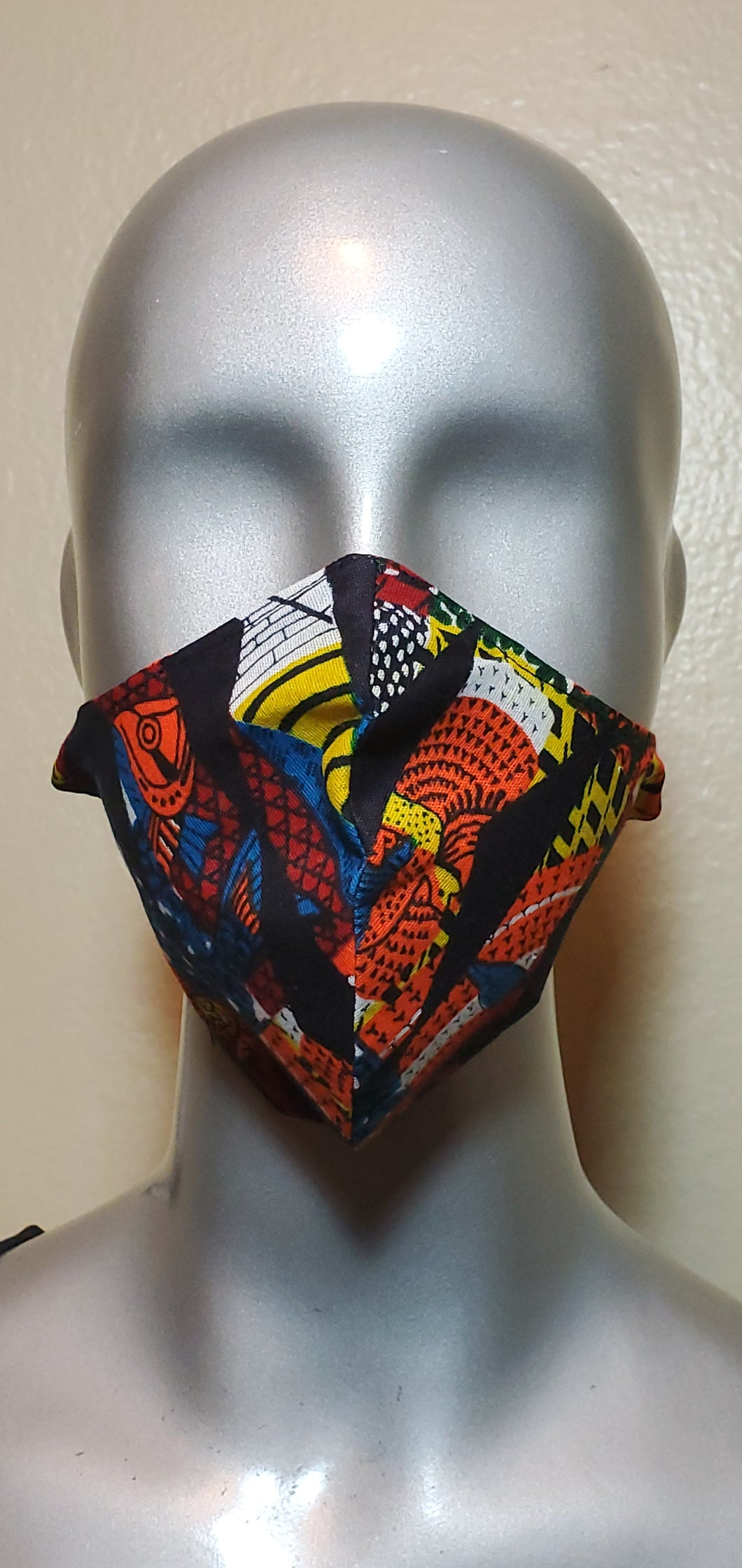 Multi color African Print Fabric Mask