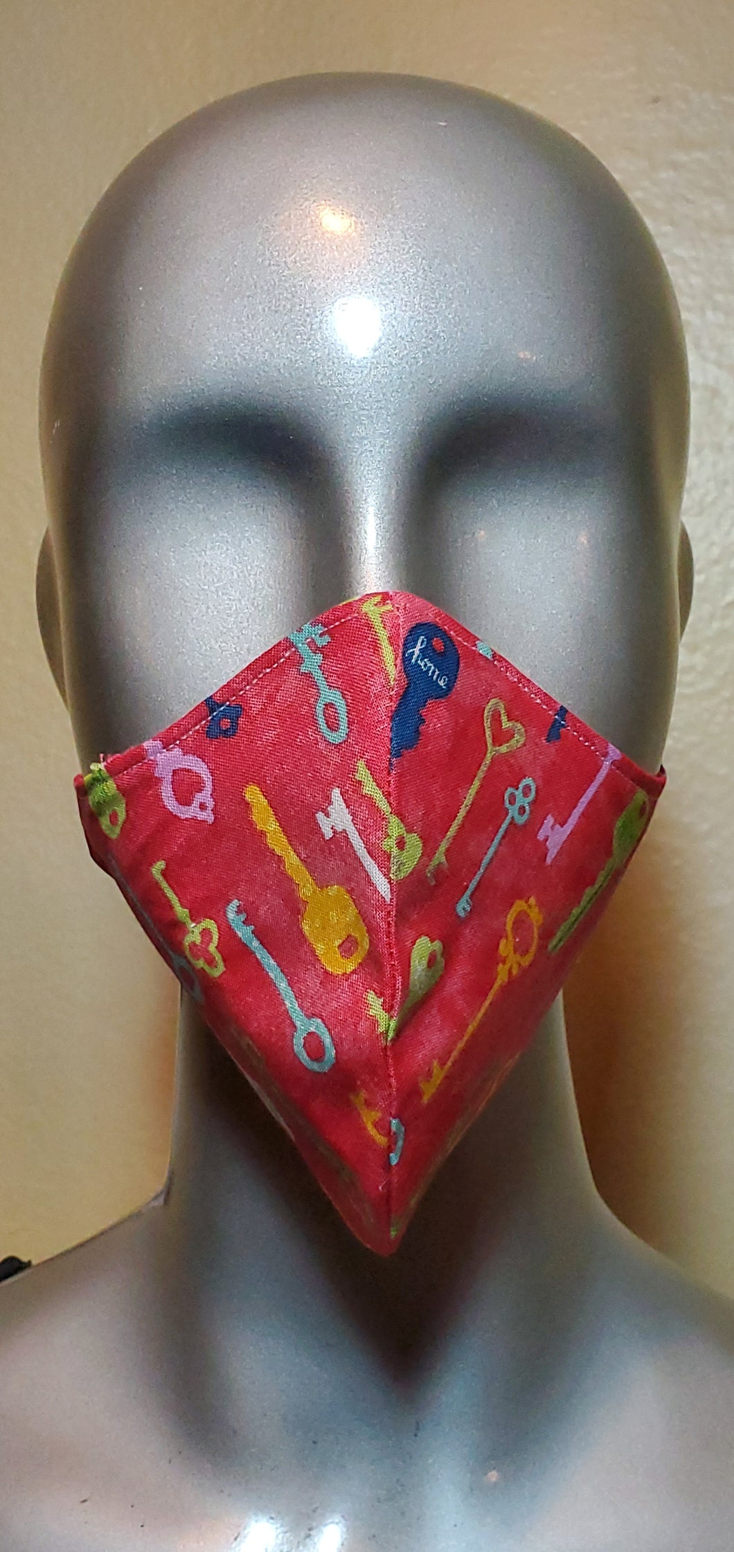Key Multi Color  Fabric Mask