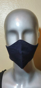 Navy Blue Fabric Mask